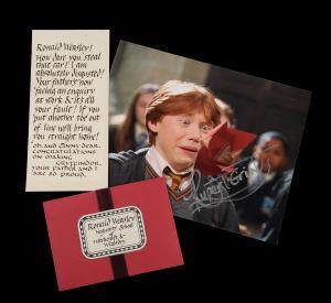 71699 Ron Weasley Rupert Grint Howler Letter 1