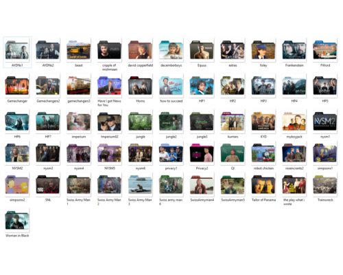 Filmography OS Icons